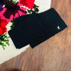 Victoria's Secret PINK Yoga Black Cropped Leggings